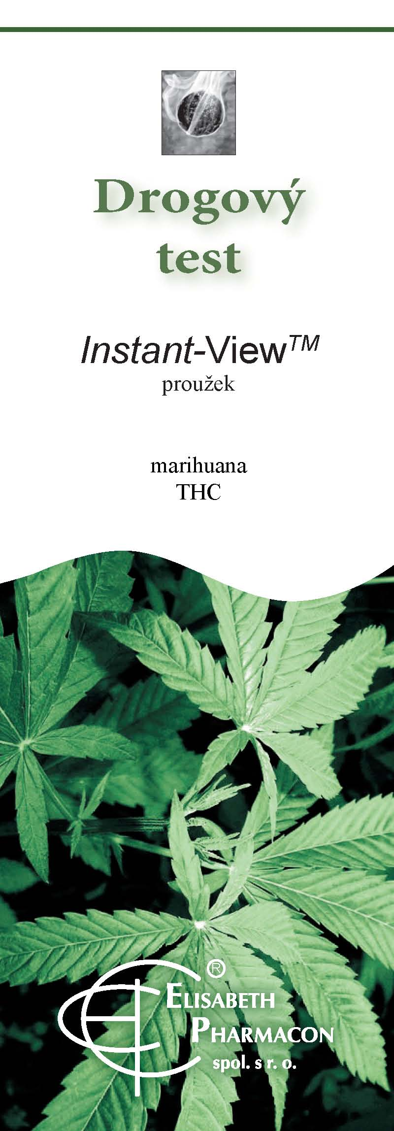 Drogový test THC - mariuhany Instant view